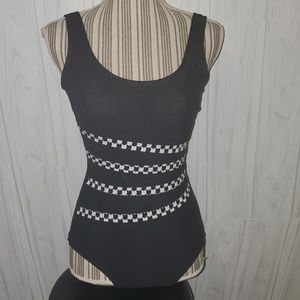 It Figures Intermingle Shirred One Piece Sz 8